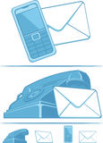 Contact Us Symbol - Phone & Mail Royalty Free Stock Image