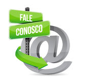 Contact us at symbol in portuguese. illustration Royalty Free Stock Photo