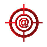 contact us target sign concept illustration Royalty Free Stock Images