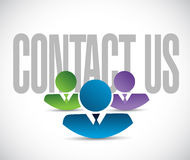 Contact us team sign illustration design graphic Royalty Free Stock Photo