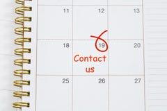 Contact us text Stock Photos