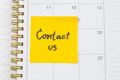 Contact us text Royalty Free Stock Images