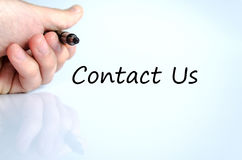 Contact us text concept Stock Photo