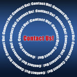 Contact us! Stock Photo
