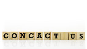 Contact Us text on wooden cubes Stock Photo