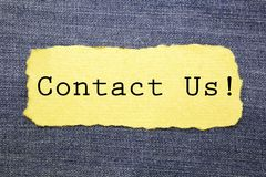Contact Us royalty free stock image