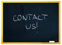 Contact us title Royalty Free Stock Photography