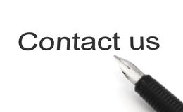 Contact us title Stock Photography