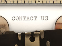 Contact us title Royalty Free Stock Photos