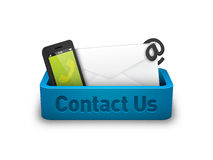 Contact Us Tray. Detailed vector illustration for displaying contact information Stock Images