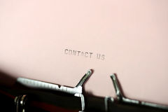 Contact Us Typing Stock Image