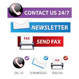 Contact us variety. A variety of contact us icons & buttons for business communications/customer support Royalty Free Stock Photography