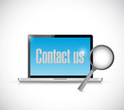 Contact us via computer. illustration design Stock Image