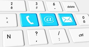 Contact us, web button on the keyboard Royalty Free Stock Images