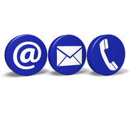 Contact Us Web Buttons Royalty Free Stock Photo
