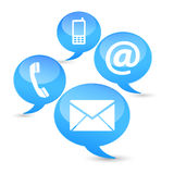 Contact Us Web Icons Clouds Stock Photo