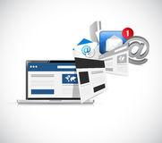 contact us websites. computer concept Stock Photography