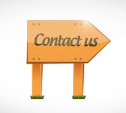Contact us wood sign concept Stock Photo