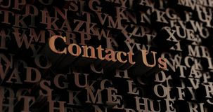Contact Us - Wooden 3D rendered letters/message Royalty Free Stock Image