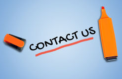 Contact us word Royalty Free Stock Photo