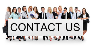 Contact us word Royalty Free Stock Images