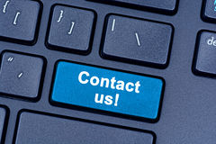 Contact us words on keyboard Royalty Free Stock Images