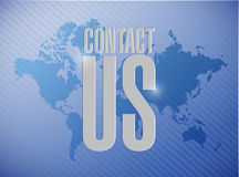 Contact us world map sign concept Stock Image