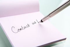 Contact us writing Stock Images