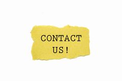 Contact us ! Royalty Free Stock Image