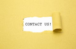 Contact us! Royalty Free Stock Photography