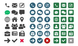 Contact vector UI app icons stock illustration