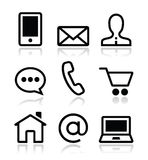 Contact web  icons set Stock Photography