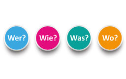 Contact Wer Wie Was Wo Stock Image