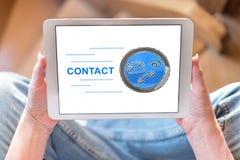 Contactconcept op een tablet royalty-vrije stock foto's