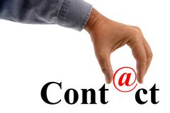 Contactconcept per e-mail stock afbeelding