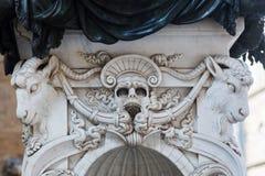 Contactdoosdetail van het standbeeld van Perseus in Florence royalty-vrije stock foto's