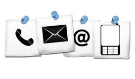 Contacte-nos ícones Imagens de Stock
