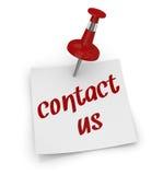 Contacte-nos Imagem de Stock