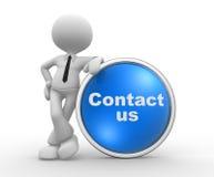 Contacte-nos Foto de Stock