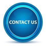 Contacte-nos botão redondo azul do globo ocular ilustração do vetor