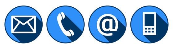 Contacte-nos botões da Web no branco Foto de Stock