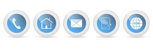 Contacte-nos botões - grupo ilustração royalty free