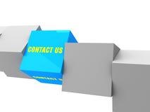 Contacte-nos caixa, conceito original Imagem de Stock