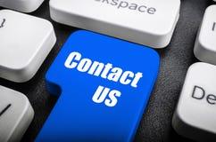Contacte-nos chaves Imagens de Stock