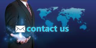 Contacte-nos conceito do negócio Imagens de Stock Royalty Free