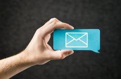 Contacte-nos, envie-o a bandeira do email e da mensagem para o Web site do negócio imagem de stock royalty free