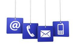 Contacte-nos etiquetas do Internet da Web Imagens de Stock