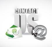 contacte-nos ilustração do conceito do email Foto de Stock