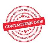 Contacte-nos! Língua holandesa: Ons de Contacteer! Fotos de Stock