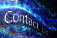 Contacte-nos na tela digital Imagem de Stock